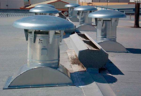 Equipos de ventilación natural para ventilación de naves