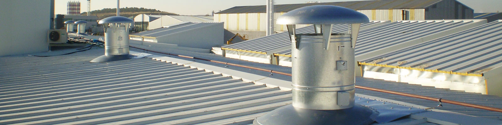 expertos en ventilación industrial por cubierta